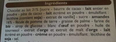 Florentins aux amandes - Ingredienti - fr
