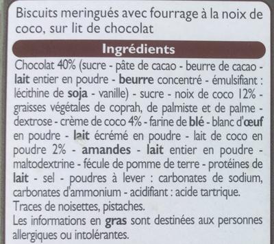 Médaillons au coco - Ingrédients