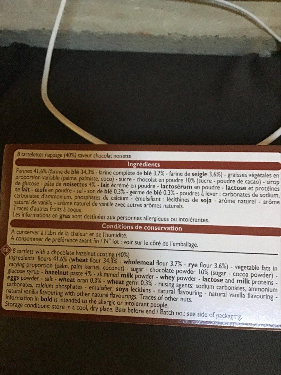 Tartelettes chocolat noisettes - Ingrediënten - fr