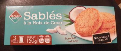 Biscuits sablés à la noix de coco Leader Price - Produit - fr