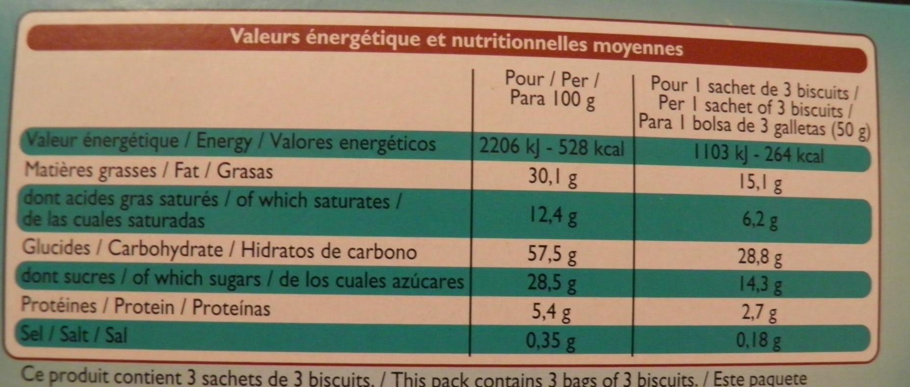 Biscuits sablés à la noix de coco Leader Price - Informations nutritionnelles - fr