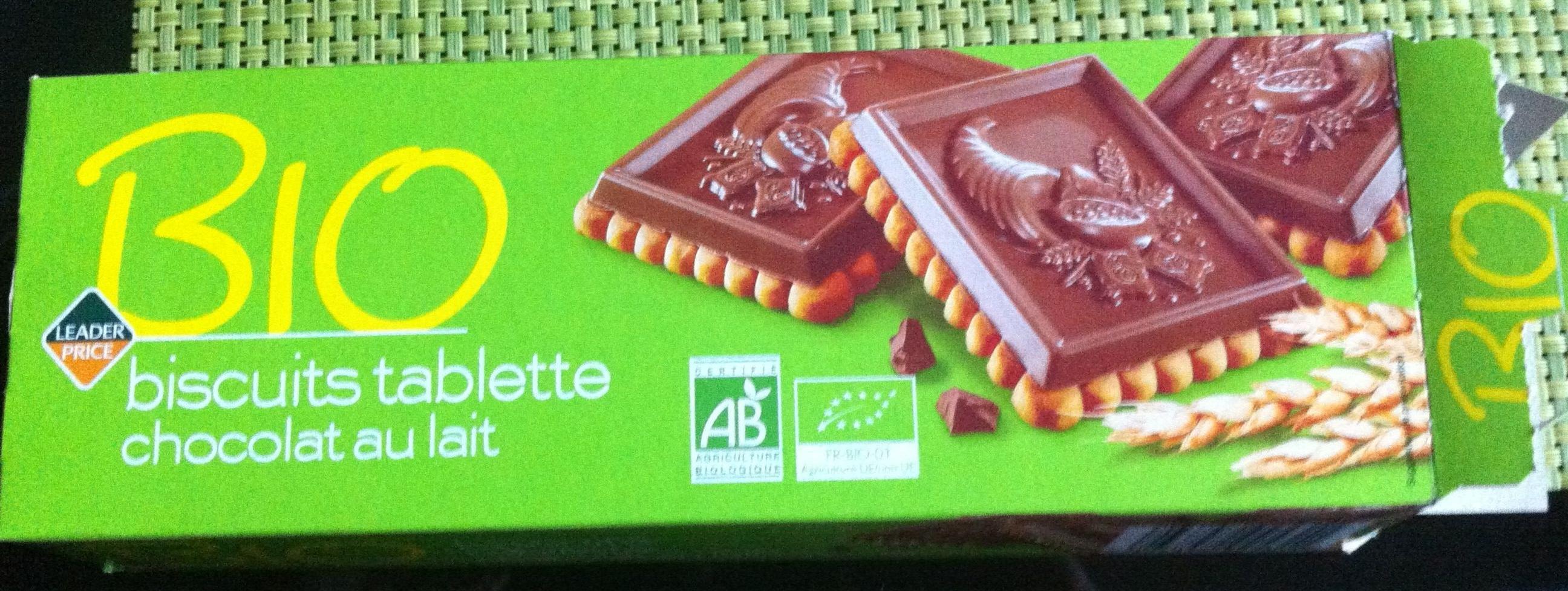 Bio biscuits tablette chocolat au lait - Product - fr