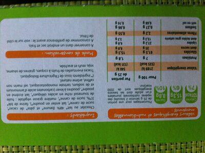 Bio biscuits tablette chocolat au lait - Ingredients - fr
