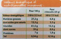 Bio biscuits tablette chocolat au lait - Nutrition facts - fr