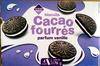 Biscuits Cacao fourrés parfum vanille - Produit