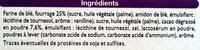 Biscuits Cacao fourrés parfum vanille - Ingrediënten - fr