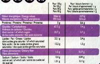 Biscuits Cacao fourrés parfum vanille - Voedingswaarden - fr