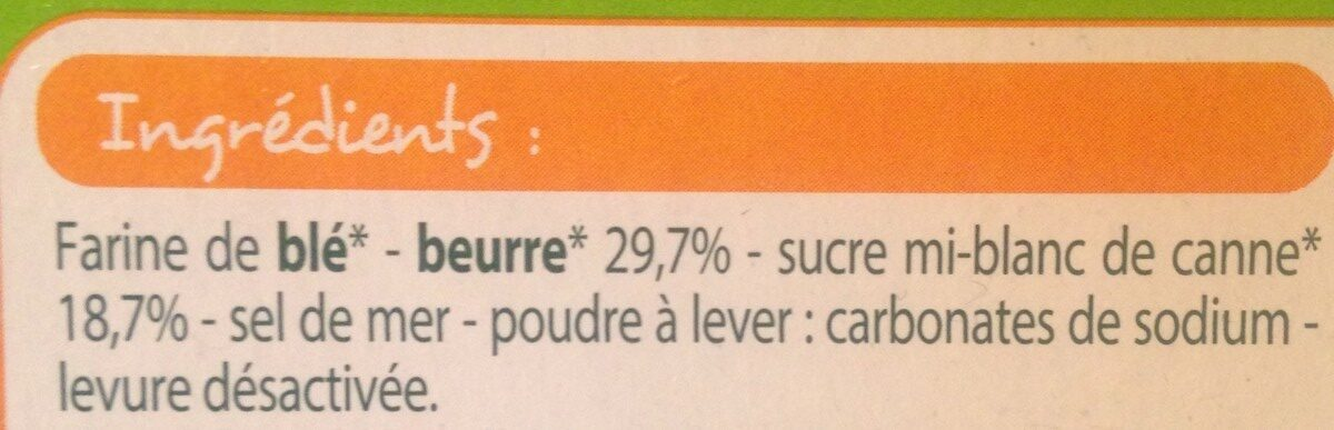 Palmiers pur beurre - Ingrediënten - fr