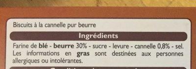 Stick cannelle - Ingredienti - fr
