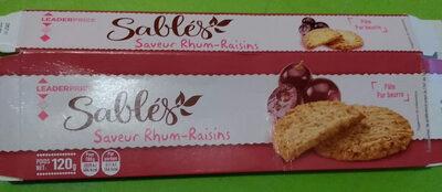 Sablés saveur Rhum-Raisins - Product