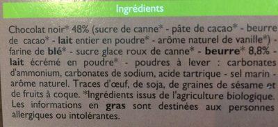 Petit Beurre chocolat noir - Ingrédients
