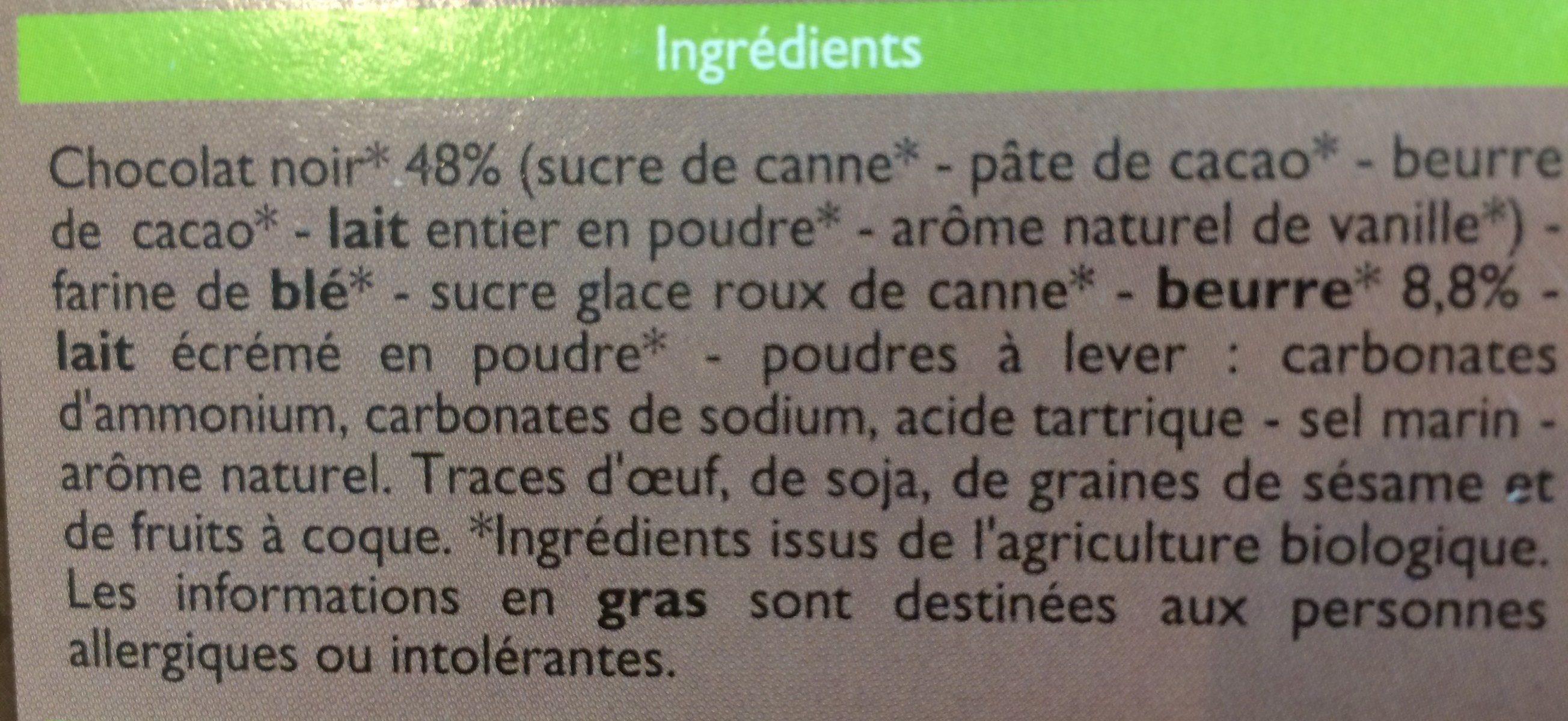 Petit Beurre chocolat noir - Ingrédients - fr