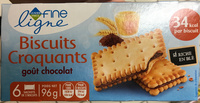 Biscuits Croquants goût Chocolat - Product - fr
