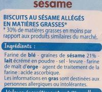 Flûtes sésame - Ingrédients - fr