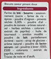 Étincelles - Biscuits saveur sweet chili - Ingredienti - fr