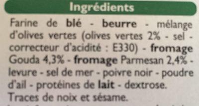 Les Craquines olive/parmesan - Ingrédients