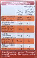 Les Craquines aux graines - Informations nutritionnelles - fr
