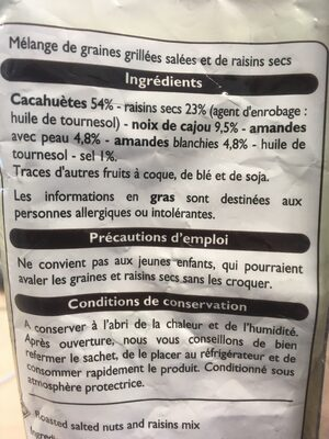 Mélange Graines & Raisins - Ingrédients - fr