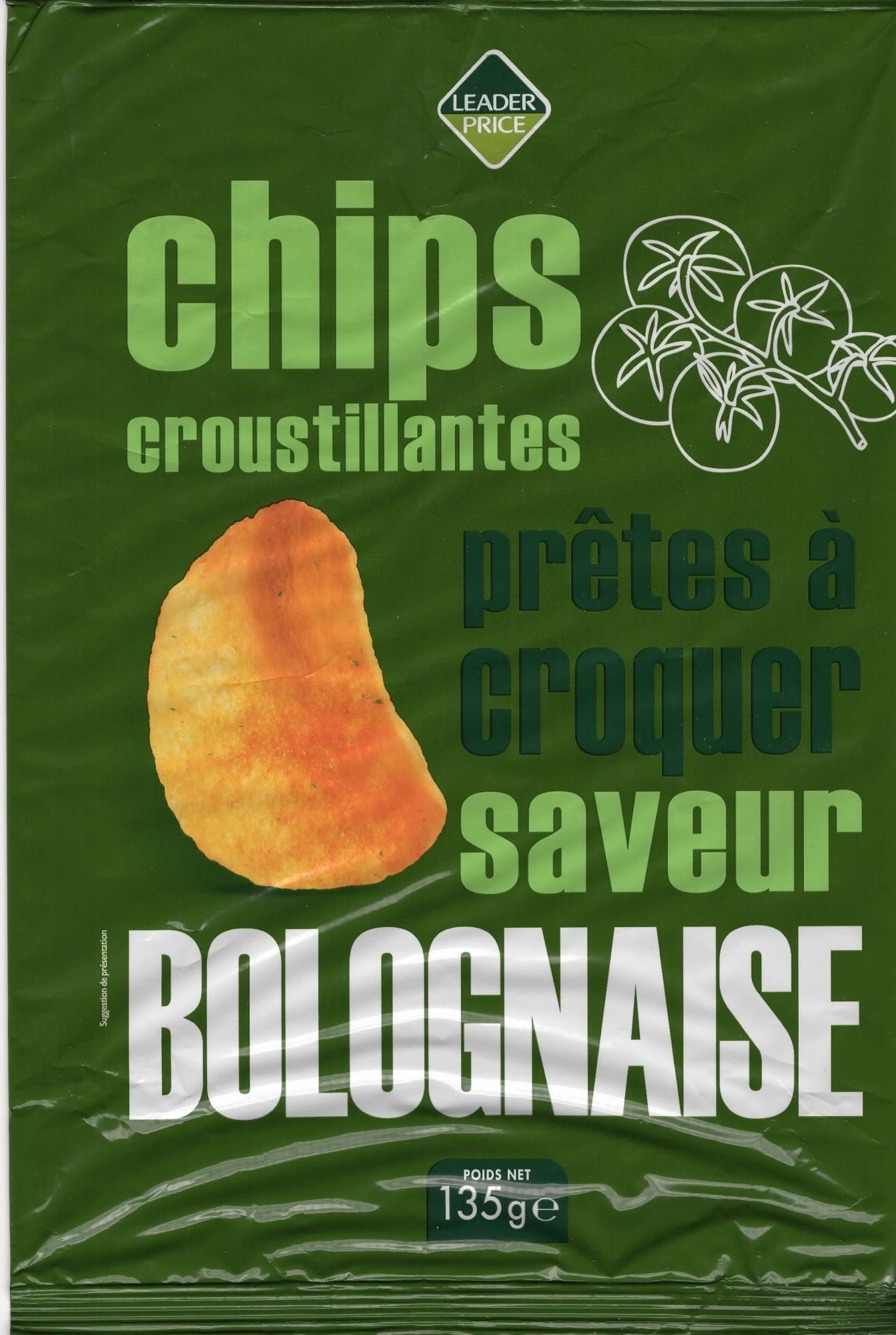 Chips croustillantes saveur bolognaise - Produit