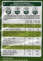 Chips croustillantes saveur bolognaise - Informations nutritionnelles