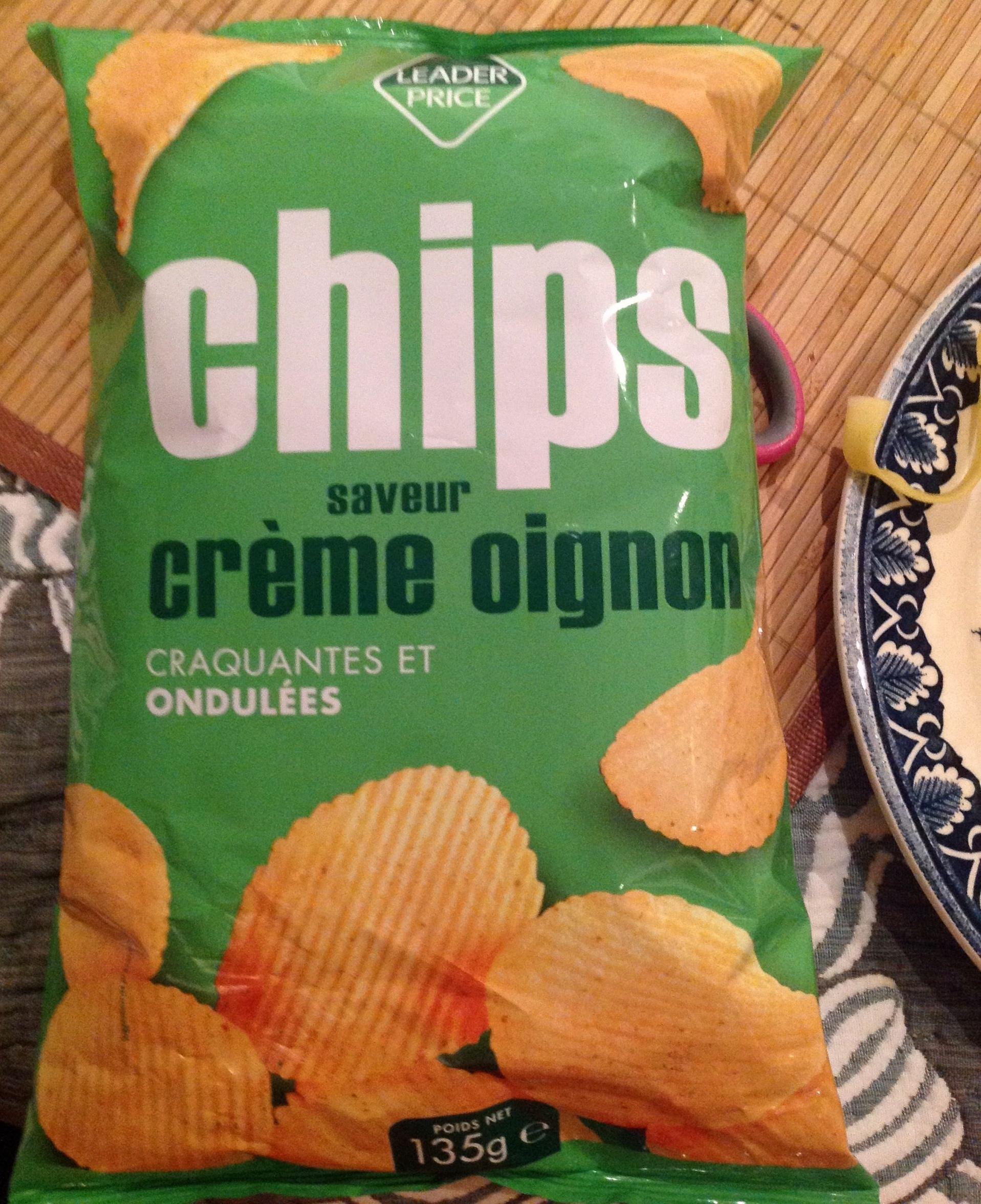 Chips crème oignon - Product - fr