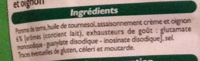 Chips crème oignon - Ingrediënten - fr