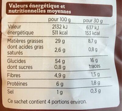 Franprix chips salées coupe épaisse - Informations nutritionnelles - fr