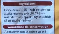 Tortilla chips goût chili - Ingrédients - fr