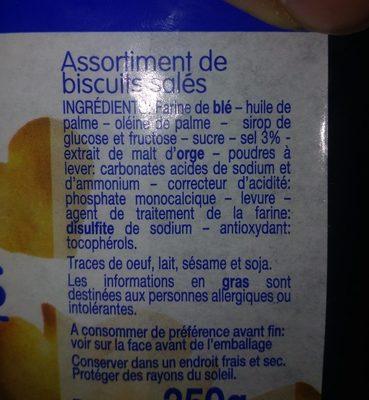 Biscuits salés - Ingredients