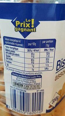 Biscuits salés assortiment - Informations nutritionnelles - fr