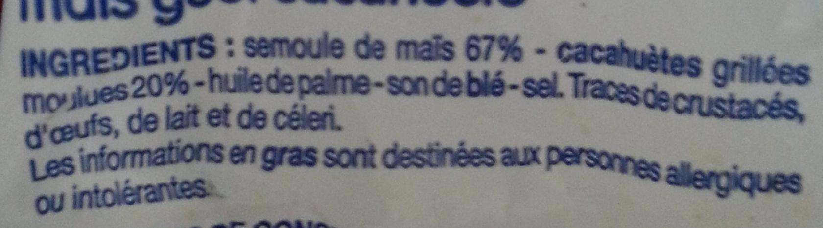 Soufflés goût cacahuète - Ingrédients - fr