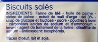 Biscuit Salé - Ingrédients - fr