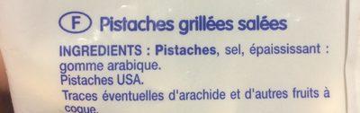 Pistaches grillées - Ingrediënten - fr