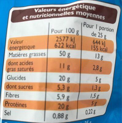 Noix de cajou grillées salées - Voedingswaarden - fr