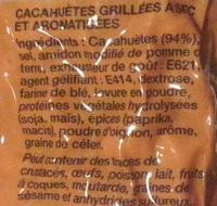 Cacahuètes grillées à sec - Ingrediënten