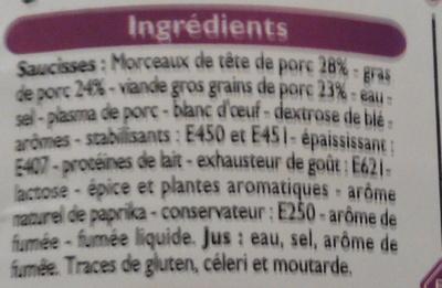 Saucisses Cocktail - Ingrédients - fr