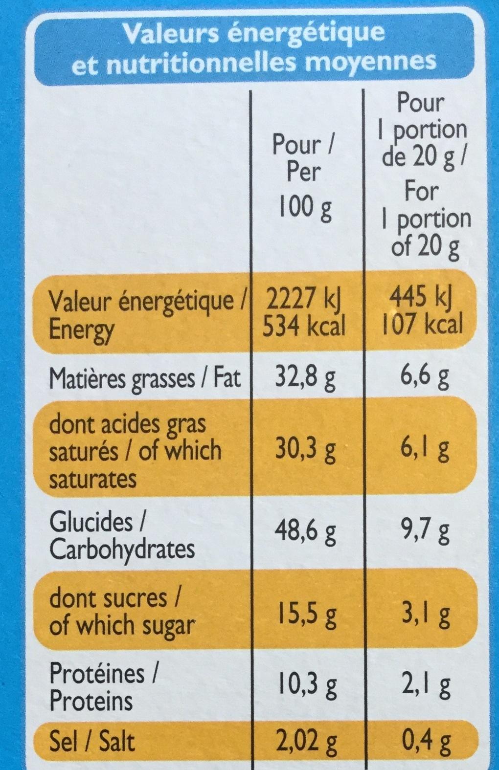 Gaufrettes goût Gouda - Nutrition facts - fr
