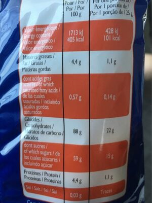Pop corn caramel - Informations nutritionnelles - fr