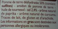 Chipsy Croustillant - Ingrédients