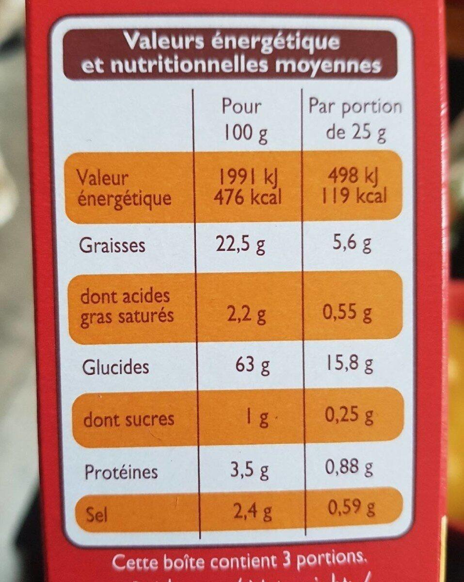 Chipsy croustillants - Informations nutritionnelles - fr