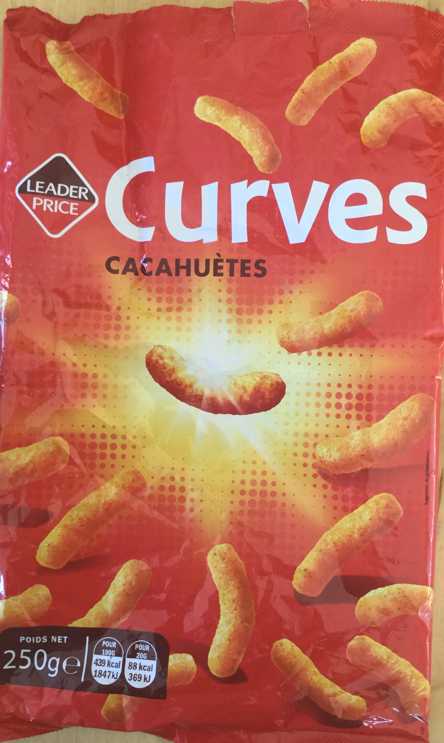 Curves cacahuètes - Producto