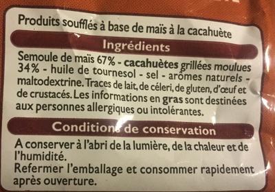 Crac'zie goût cacahuète - Ingrédients - fr
