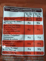Crac'zie goût cacahuète - Informations nutritionnelles - fr