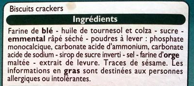 Assortiment crackers - Ingredients - fr