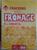 Crackers goût fromage à l'emmental -