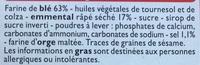 Crackers goût fromage à l'emmental - Ingredienti - fr