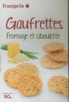 Gaufrettes fromage et ciboulette - Produit - fr