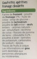 Gaufrettes fromage et ciboulette - Ingrédients - fr