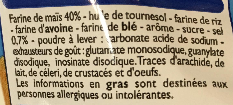 Tubes goût salé - Ingrediënten - fr