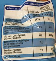 Tubes goût salé - Voedingswaarden - fr
